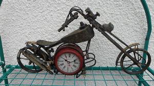 Chopper Motorcycle Clock $40