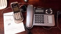 1 cordless phone with home base with answering machine