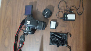 Canon T3i DSLR Camera + Lenses + Tripod + Bag + Mem. Card + Mic