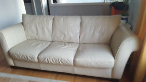 Ivory leather sofa for sale