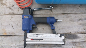 Brad nailer and stapler with Reserve air tank and hose