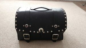 MINT CONDITION STUDDED GENUINE LEATHER LUGGAGE BAG
