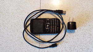 ZTE cell phone with USB wall charger