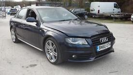2010 Audi A4 2.0TDI 143ps Special Edn S Line DAMAGED SPARES OR REPAIR SALVAGE