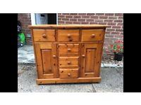 Solid pine dresser / sideboard / cupboard / drawers