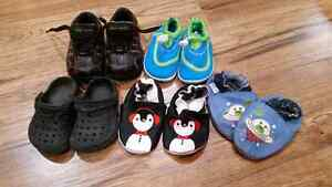 5 pairs of size 5 shoes