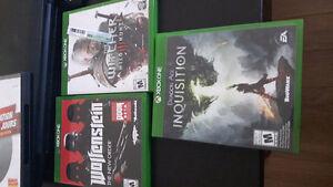 Kinect et trois jeux de xbox one