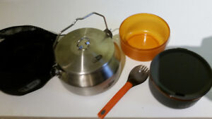 GSI stainless steel kettle and cookset