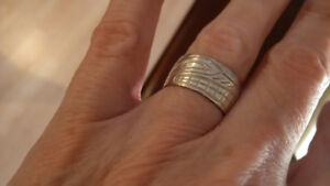 Native silver ring ..   size 6 1/2