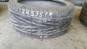 Single General Exclaim UHP 245/35R19 tire (40% tread life)