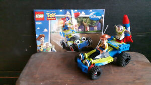 Toy Story Lego Brand #7590 Buzz and Woody Recuse Car with Rocket