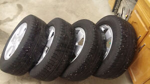 Four Michelin X-Ice 225/60R16 on OEM Wheels for 2006 Impala