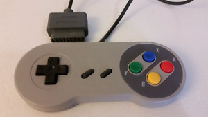 2 SNES controllers. Works with console.