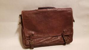 Vintage Columbian Leather Messenger Laptop Bag,Briefcase