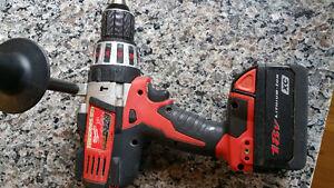 Milwaukee 1/2 inch 18V Hammer Drill/Driver with 18V Li-ion Batt.