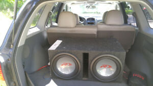 2 12 inch apline type r dual voice coil subs with 1000 watt amp