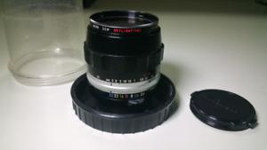 Nikon Lens Micro-Nikkor 55mm F3.5 w/Cap & 52mm 1A Filter