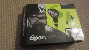New in box Monster iSport Intensity Workout Headphones Buds