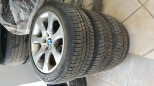 17'' OEM BMW WHEELS - WINTER MICHELIN ICE-X TIRES - 225/50/17