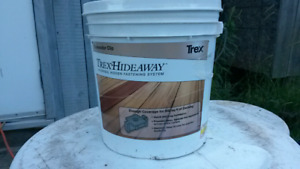 New bucket of trex hideaway screws