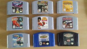 Lot de 9 jeux de Nintendo 64