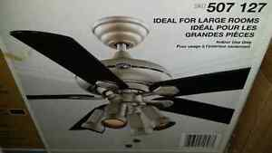 """Brand new stainless ceiling fan. 52"""" with remote"""