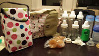 Misc. baby bottles, accessories, sippy cups and containers