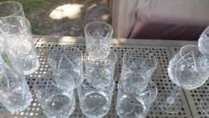 Pinwheel crystal glasses Kitchener / Waterloo Kitchener Area image 4