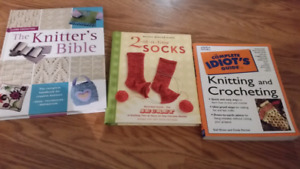 Knitting/crochet books - $7 each