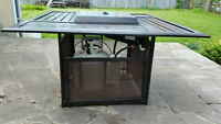 FIREPIT, BBQ, 4 CHAIRS - COMPLETE SET
