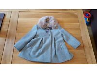Monsoon Toddler Girls Woven Coat age 2-3