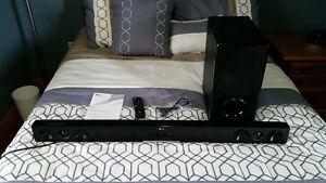 LG Soundbar and Wireless Subwoofer