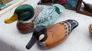 Duck Person Alert!! Hand Painted Ducks + Dishes Bookends Strathcona County Edmonton Area image 2