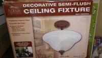 Altair lighting semi flush mount (New)