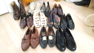 11 pairs of leather shoes for $100