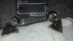 3 pairs of Brand New Indonesian Sterling Silver earings