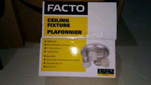 3 light ceiling fixture and track lights (x2)