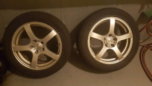 Rims and winter tires