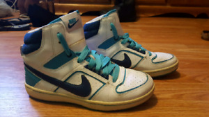 Blue and White Nike Hightops size 7.5