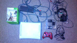 60GB Xbox 360 + Controller + Headset + 14 Games Sarnia Sarnia Area image 1