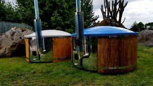Hot tubs & barrel shape saunas