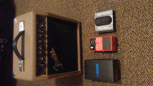 FENDER Accoustic amp & BOSS Loop station