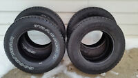 "Four GOODYEAR ""TRACKER 2"" All Season Tires - P235/70 R16"