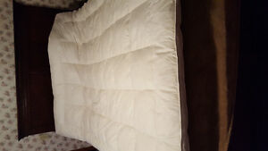 Queen size feather mattress pad