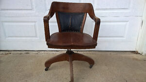 Antiques Bankers Chair and Desk