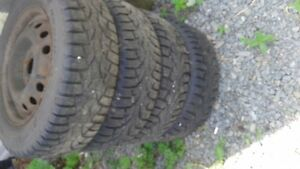 Tries 185/65/R14 with rims brand new