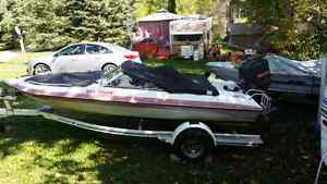 16 ' bowrider with 100hp and trailer