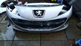 2009-2012 Peugeot 207 Front Bumper Centre Upper Grille Vent Standard Models New