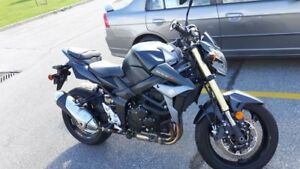 For sale: 2015 Suzuki GSX-S 750, Matte Black, 3640kms, $5,700.