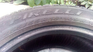 4 used Pirelli tires Scorpion ice & snow